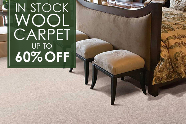 60% off in-stock wool carpets only at Abbey Carpet of San Francisco.